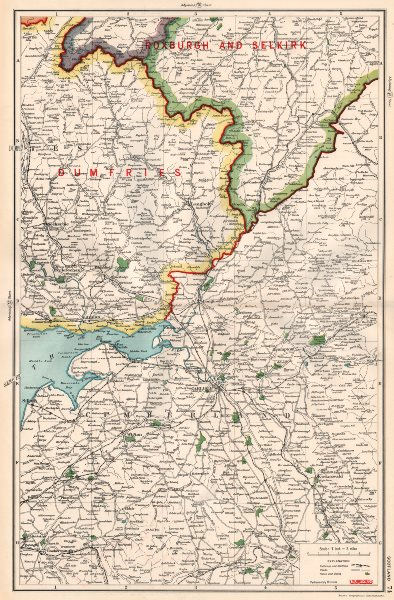 SOLWAY FIRTH.Scotland Cumberland Dumfries Roxburgh.Constituencies.BACON 1936 map