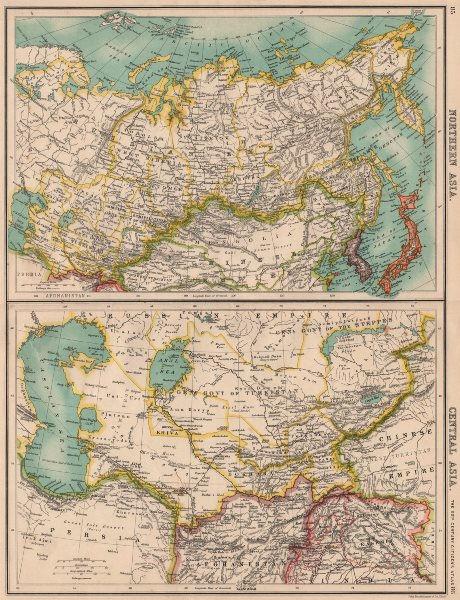 Associate Product NORTH & CENTRAL ASIA. Siberia Japan Korea Khiva Bukhara Turkistan 1901 old map