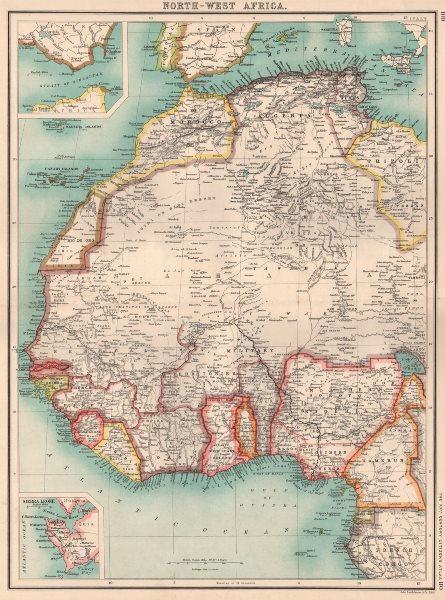 West Africa Nigeria Gold Coast Ghana Dahomey Benin Rio De Oro