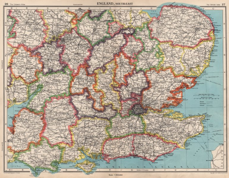 Associate Product SOUTHERN ENGLAND. Isle of Ely a separate county from Cambridgeshire 1952 map