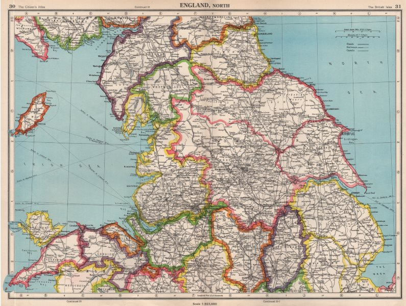 Associate Product N ENGLAND. Lincolnshire parts. Lindsey Holland Kesteven. Yorks Ridings 1952 map