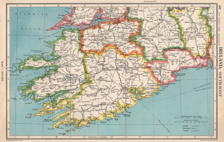 Ireland South West Munster Kerry Cork Limerick Tipperary Waterford