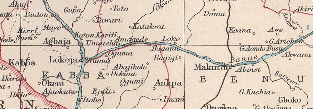 Details about NIGERIA  Dahomey (Benin) Fernando Po/Bioko  BARTHOLOMEW 1952  old vintage map