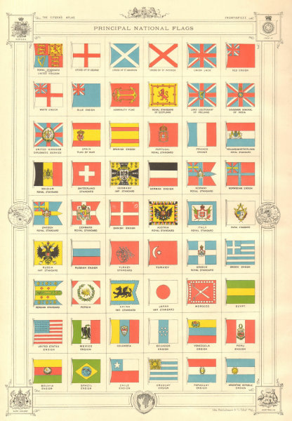 Associate Product NATIONAL FLAGS OF THE WORLD. British Empire. Imperial & Royal standards 1898