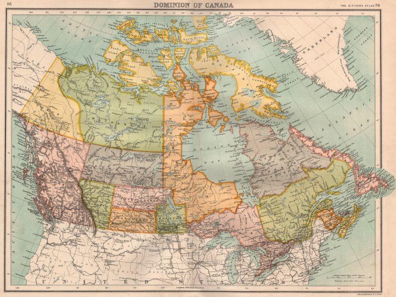 Associate Product DOMINION OF CANADA.MacKenzie Athabasca Keewatin Assiniboia.BARTHOLOMEW 1898 map
