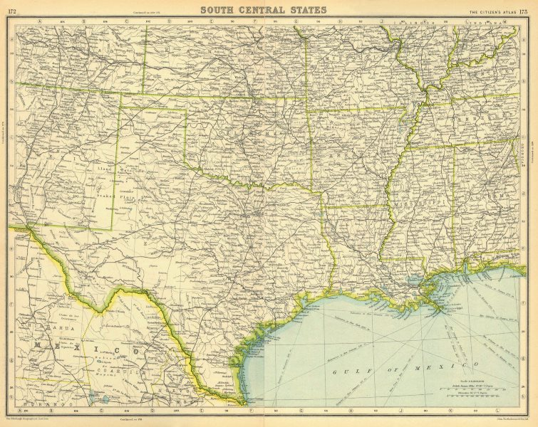 Map Of Texas Louisiana And Mississippi.Usa South Texas Louisiana Oklahoma Arkansas Mississippi