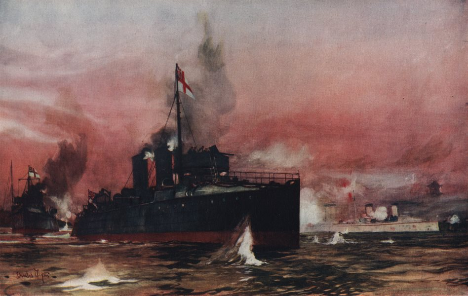 """Associate Product ROYAL NAVY. The """"Fame"""" in the Attack on Taku. Launched at Chiswick 1896 1901"""