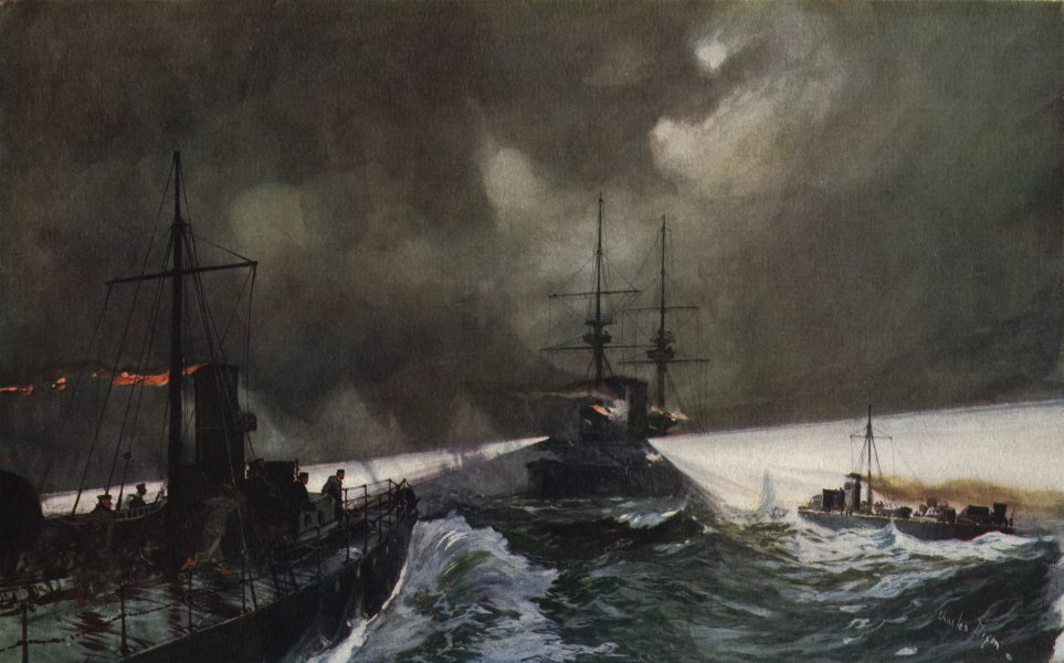 Associate Product ROYAL NAVY. Torpedo Boats in Action at the Naval Manoeuvres 1901 old print
