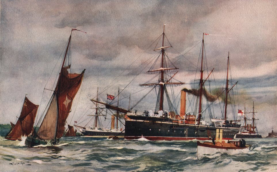 """Associate Product ROYAL NAVY. Sloop """"Swallow"""" & """"Thrush"""" Gunboat. Launched 1885-1889 1901 print"""