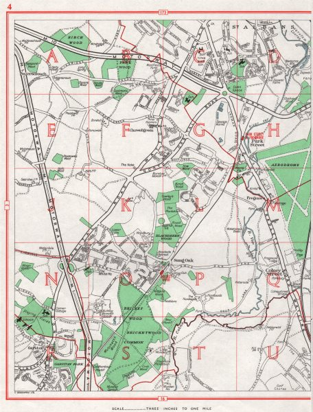 Associate Product CHISWELL GREEN.St Albans Park Street Bricket Wood Garston Colney Street 1964 map