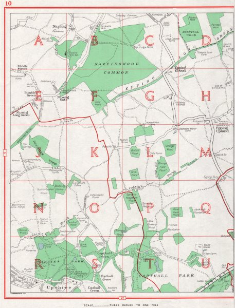 Associate Product ESSEX. Nazeing Copthall Park Epping Green Upshire Waltham Abbey 1964 old map