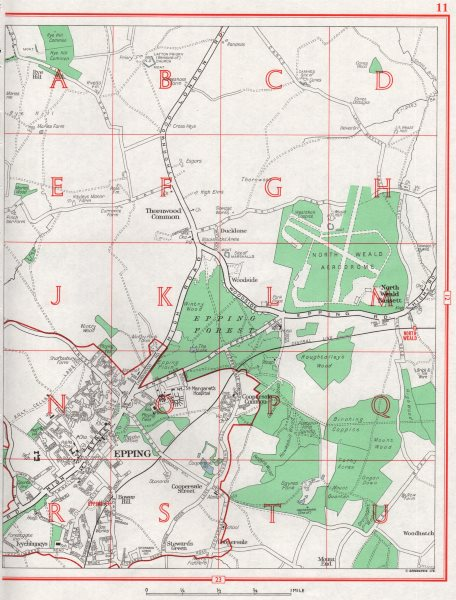 Associate Product EPPING. North Weald Bassett Thornwood Common. Essex 1964 old vintage map chart