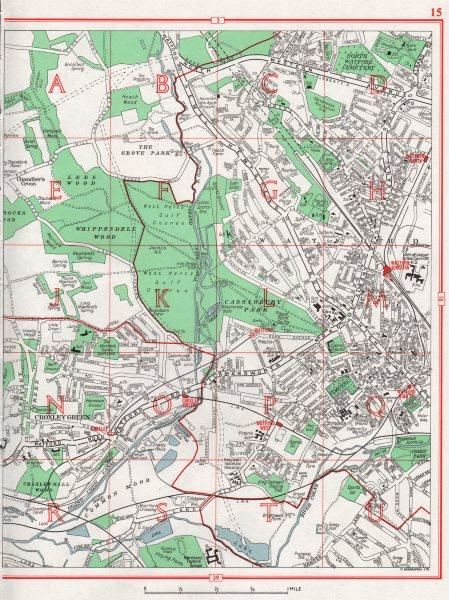 Associate Product WATFORD WEST.+ North & Junction.Croxley Green.The Grove.HERTFORDSHIRE 1964 map