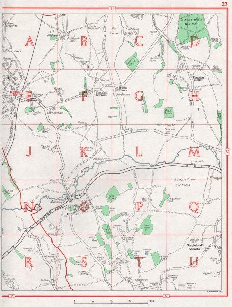 Associate Product ESSEX. Abridge Stapleford Abbotts Theydon Mount Garnon Theydon 1964 old map