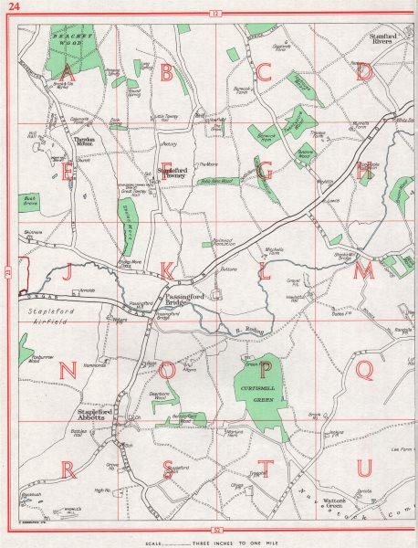 Associate Product ESSEX. Stapleford Abbotts Tawney Theydon Mount Passingford Bridge 1964 old map