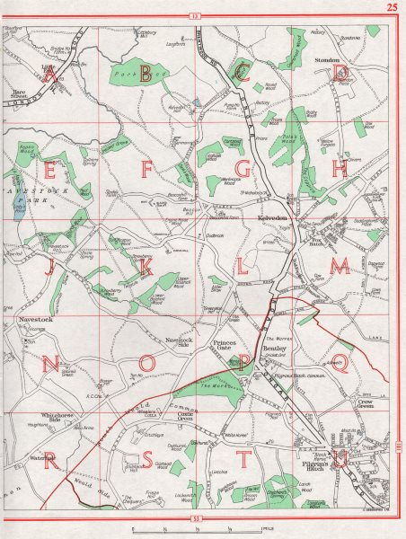 Associate Product ESSEX. Navestock Kelvedon Stondon Crow Green Princes gate Bentley 1964 old map