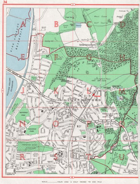 Associate Product CHINGFORD. Sewardstonebury Epping Forest Friday Hill. Essex 1964 old map