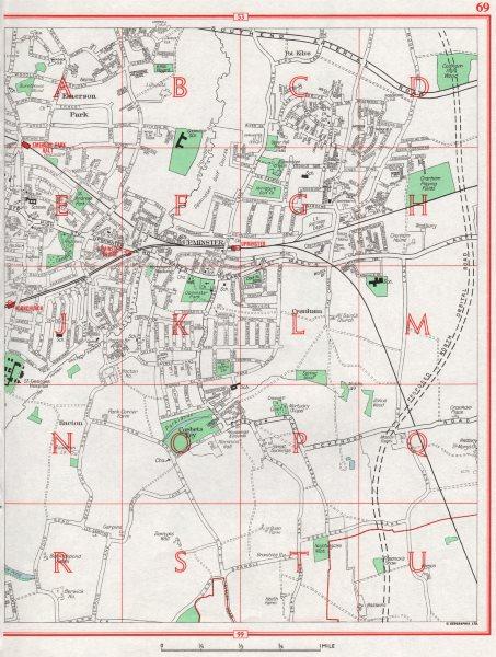 Associate Product UPMINSTER. Hornchurch Emerson Park Hacton Cranham Corbets Tey 1964 old map