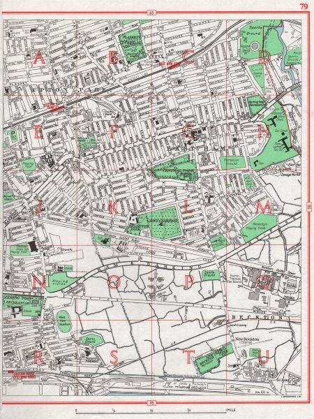 London East Map.Details About London East End Upton Park East Ham Beckton 1964 Old Vintage Map Plan Chart