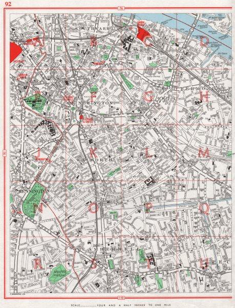 Associate Product CAMBERWELL. Southwark Bermondsey Walworth Kennington. Surrey canal 1964 map