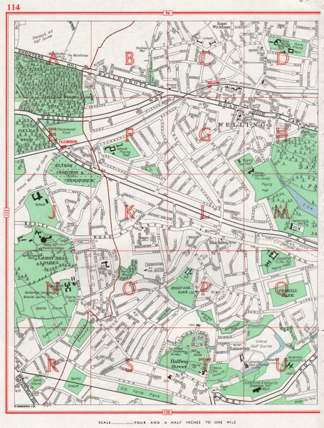 Associate Product BEXLEY. East Wickham Welling Falconwood Avery Hill Blackfen Lamorbey 1964 map