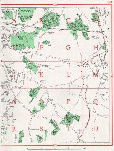 Associate Product KENT. St. Paul's Cray Crockenhill Orpington Swanley Ramsden pre-A20/M25 1964 map