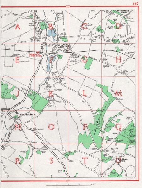 Associate Product KENT. Sutton at Hone South Darenth Horton Kirby Farningham. Pre-M25/M20 1964 map