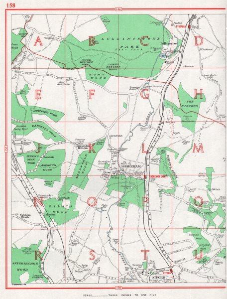 Associate Product KENT. Shoreham Otford. Badger's Mount Well Hill. Pre-M25 1964 old vintage map
