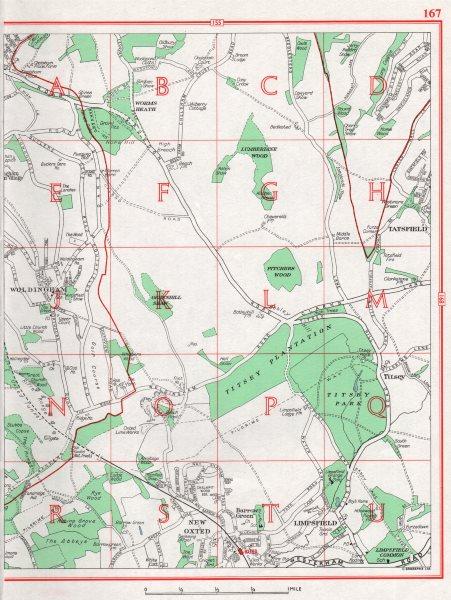 Associate Product SURREY. Woldingham New Oxted Limpsfield. Pre-M25 1964 vintage map chart
