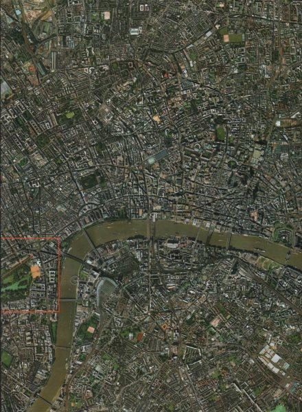 Associate Product CENTRAL LONDON.Westminster Lambeth Bermondsey City Shoreditch Islington 2000 map