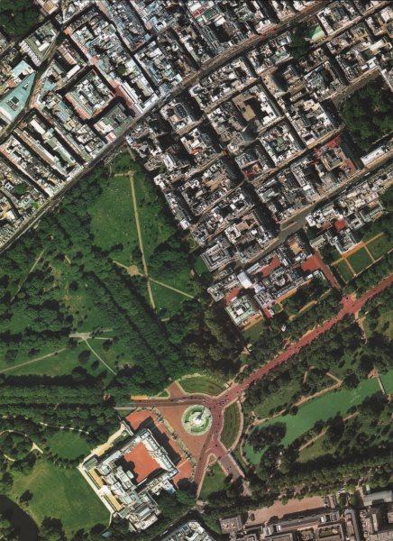 Associate Product BUCKINGHAM PALACE.Mayfair St James's park Green Park Piccadilly Big Ben 2000 map
