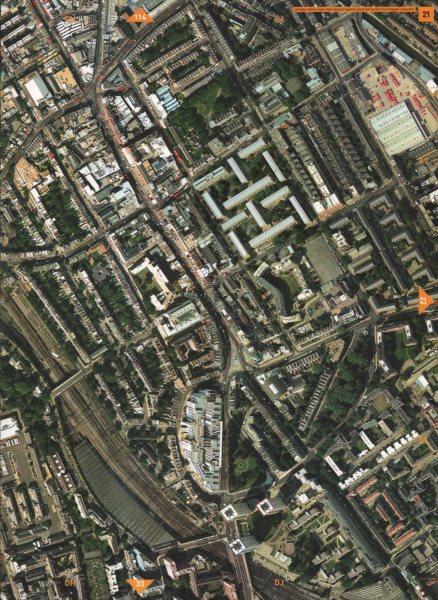 Associate Product CAMDEN TOWN NW1.Royal Mail Depot Regents Park Barracks Mornington Cres. 2000 map