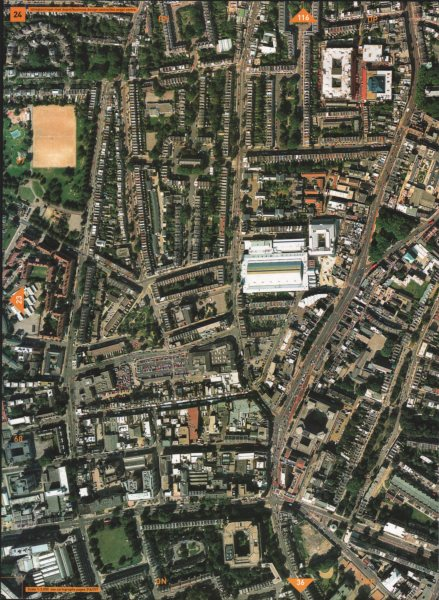 Associate Product ISLINGTON N1. Royal Mail Depot The Angel Upper Street City Road 2000 old map