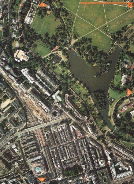 Associate Product REGENT'S PARK NW1.Mosque London bus.School Marylebone/Baker St Stations 2000 map