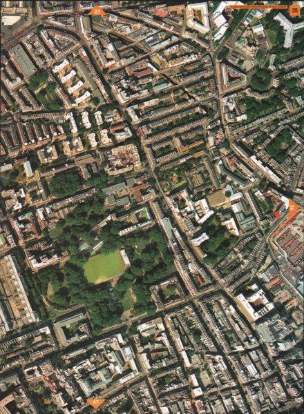 Associate Product ST PANCRAS WC1. Coram's Fields Great Ormond Street Hospital Kings Cross 2000 map