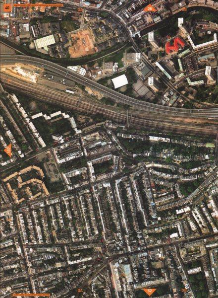Associate Product WESTBOURNE GROVE W2 W11 W9. Regent's Canal A40 (M) Westway Bayswater 2000 map