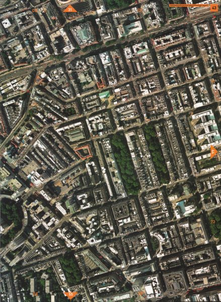 Associate Product MARYLEBONE W1 W2 NW1. Edgware Rd Marylebone Rd Bryanston Sq Montagu Sq 2000 map