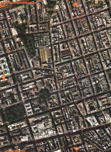 Associate Product MARYLEBONE W1.Portman Square Manchester Square Selfridges Oxford Street 2000 map