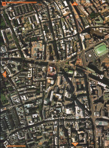 Associate Product FARRINGDON EC4 EC1. Smithfield Market Ludgate Circus Chancery Lane 2000 map
