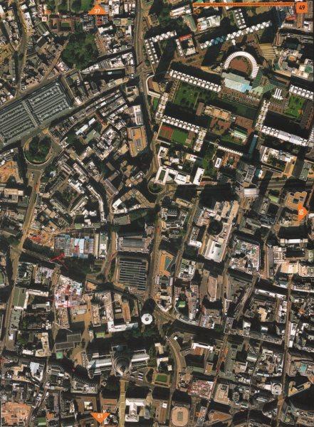Associate Product BARBICAN EC4 EC1 EC2.Smithfield Mkt St Bart's Hosp Old Bailey St Paul's 2000 map