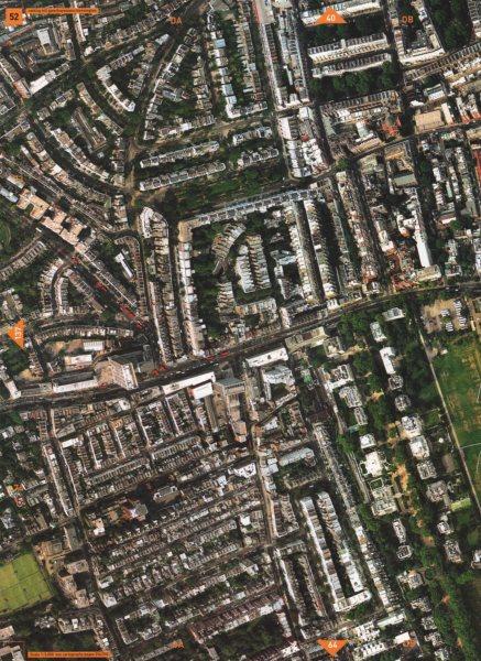 Associate Product NOTTING HILL GATE W8 W11 W2. Bayswater Kensington Church Street 2000 old map