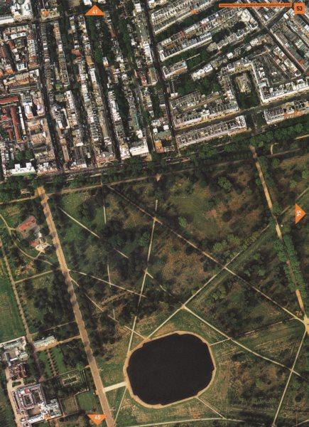Associate Product BAYSWATER W2 W8. Kensington Gardens Kensington Palace Queensway 2000 old map