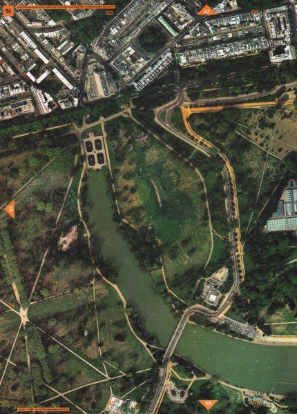 Associate Product HYDE PARK W2. Long Water Serpentine Marlborough Victoria Lancaster Gate 2000 map