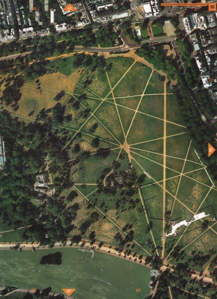 Associate Product HYDE PARK W2. Marble Arch Hyde Park Speaker's Corner Serpentine Park Ln 2000 map
