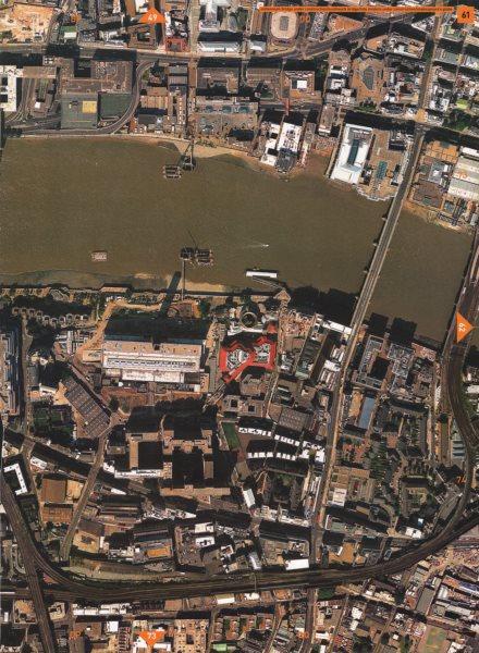 Associate Product BANKSIDE EC4 SE1.Southwark Bridge Tate Modern Globe Theatre Blackfriars 2000 map