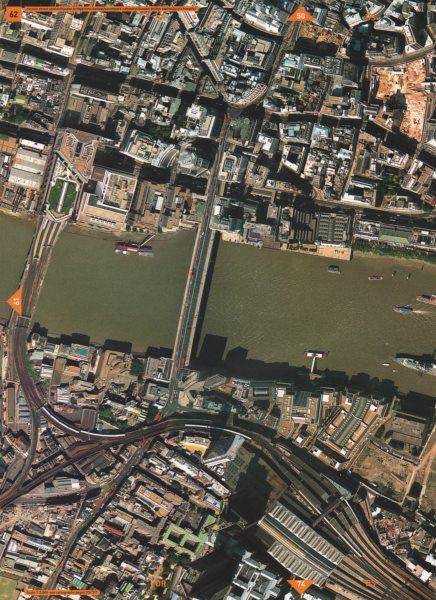 Associate Product CITY EC3 EC4 SE1. Cannon Street London Bridge Station Guy's Hospital 2000 map