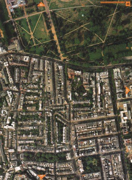 Associate Product SOUTH KENSINGTON W8 SW7.Kensington Gardens Gloucester Road Queen's Gate 2000 map