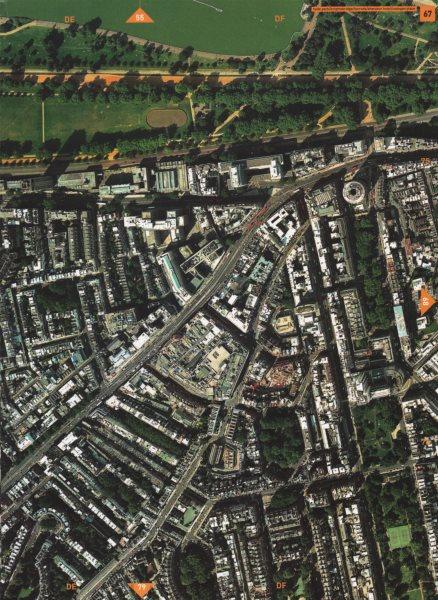 Associate Product KNIGHTSBRIDGE SW7 SW3 SW1. Hyde Park Cadogan Pl Sloane St Brompton Rd 2000 map