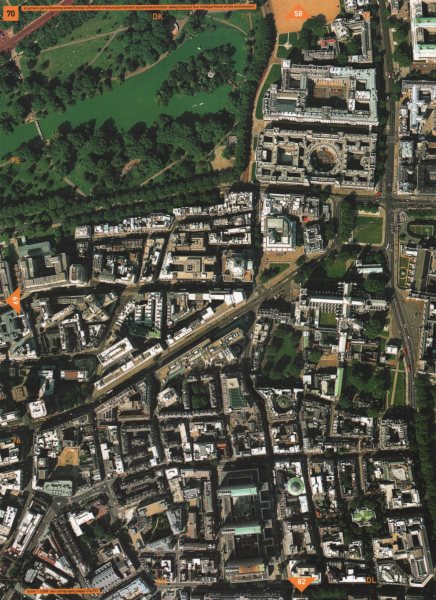 Associate Product WESTMINSTER SW1.St James's park Whitehall Westminster Abbey Victoria St 2000 map