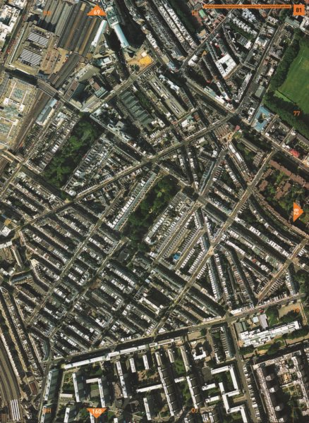 Associate Product PIMLICO SW1. Victoria Station Eccleston Square Warwick Square 2000 old map